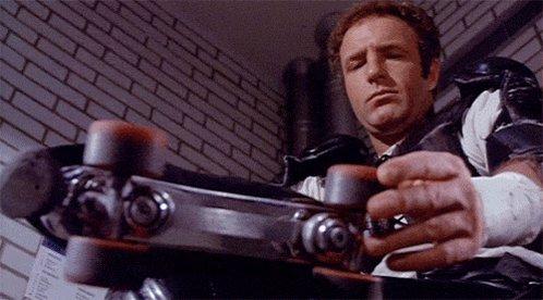 "\""You my big reward?\""  Happy birthday to our favorite futuristic rollerskating athlete, James Caan."
