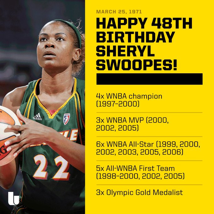 Happy Birthday to a women s basketball legend, Sheryl Swoopes!