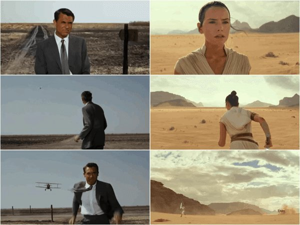 'North by Northwest' (1959) // 'Star Wars: The Rise of Skywalker' (2019)