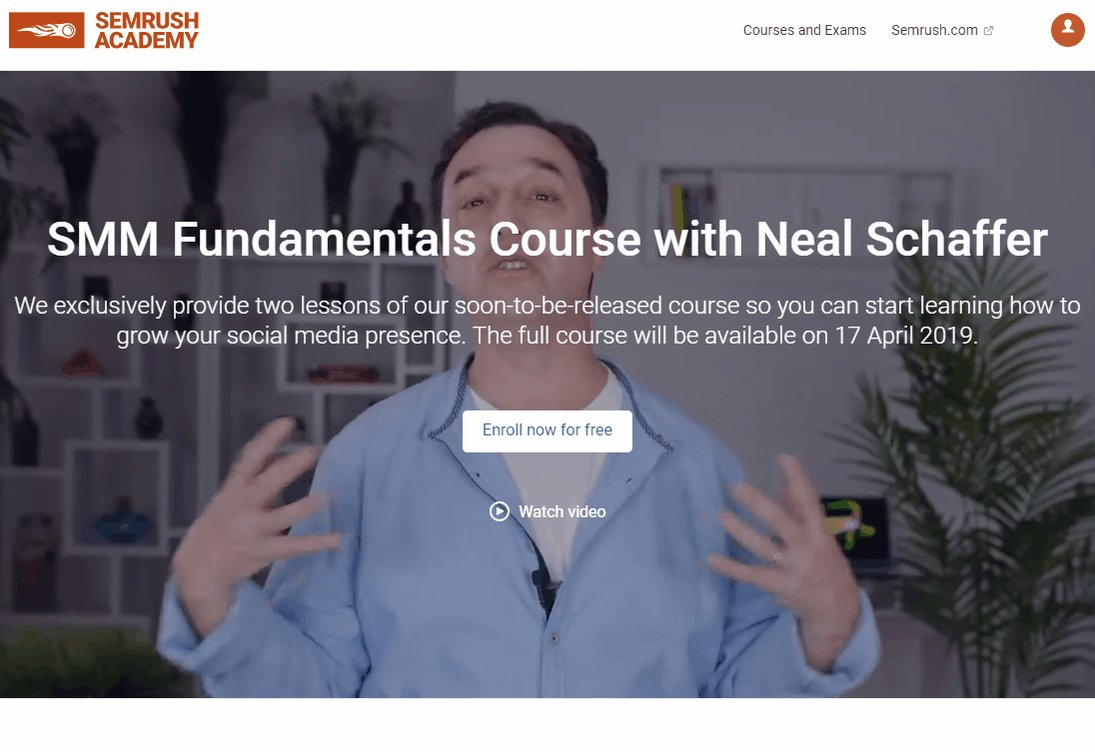 🗓️Only 6 days to go!   We're working on the #SMM Fundamentals course featuring the true #socialmedia strategist @NealSchaffer, and it will definitely rock!  For now, enjoy the exclusive pre-release of the course with two lessons available 👉 https://goo.gl/WACixy