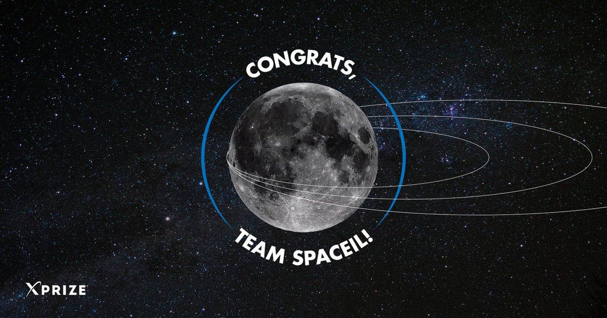 They may not have had a successful landing this time, but @TeamSpaceIL has still made history. They will be the recipients of our first ever $1M Moonshot Award, in honor of their achievements and their milestone as the first privately-funded entity to orbit the Moon. 🌒 #moonshot