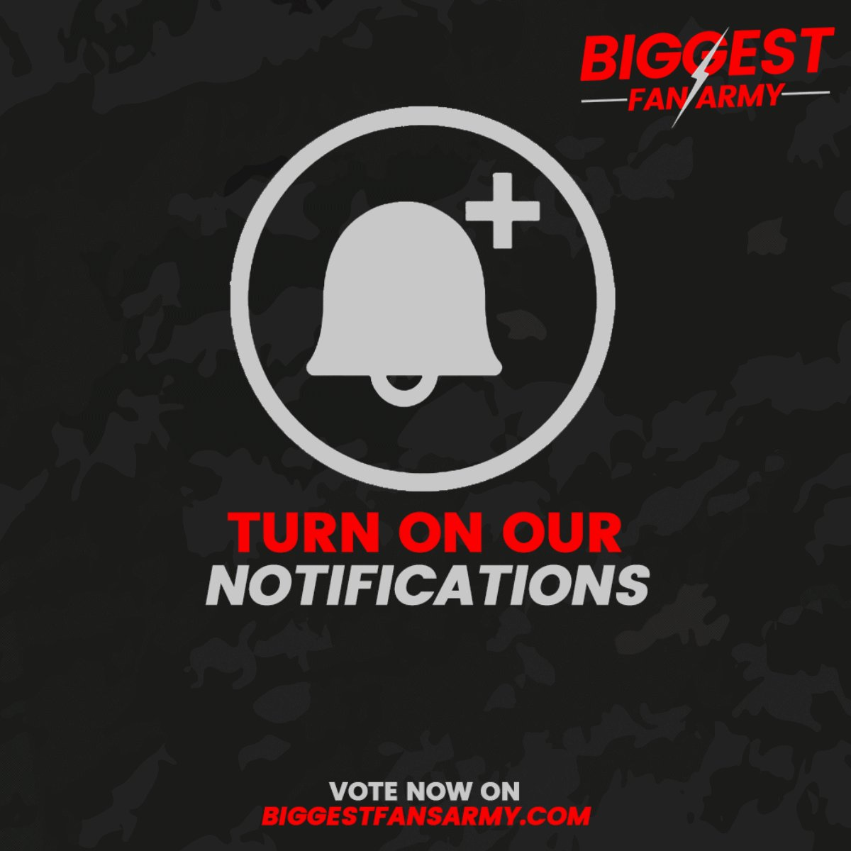 The 2019 #BiggestFansArmy is here! TURN ON OUR NOTIFICATIONS for updates of votes.  ⭐️ RT & Vote now on http://BiggestFansArmy.com