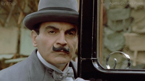 Happy birthday! Here goes a David Suchet to celebrate