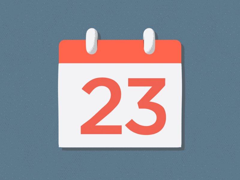 Отрывается лист календаря гиф