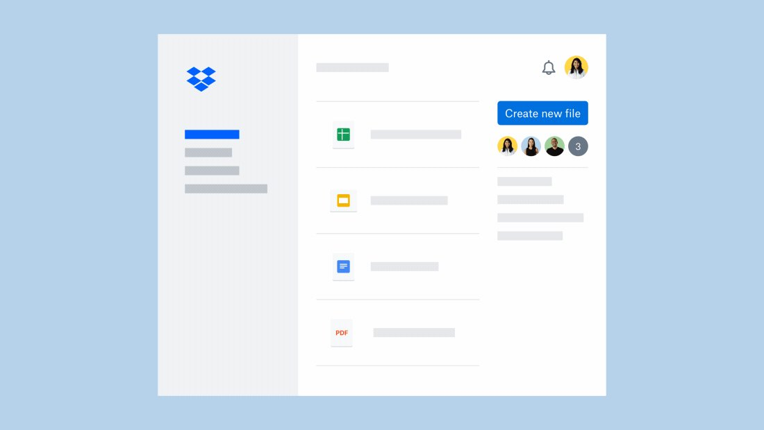 Google Docs, Sheets, and Slides can now be edited and shared within Dropbox