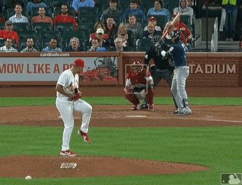 Jordan Hicks, 102mph Sinker and 89mph Slider (stop gif).  I'd be excited for that take too.