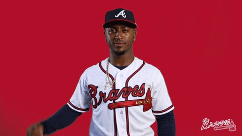 .@ozzie launches a BLAST on the first pitch of the game and it's a 1-0 #Braves lead!  #ChopOn