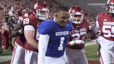 The moment the Jalen Hurts era officially began. #Sooners