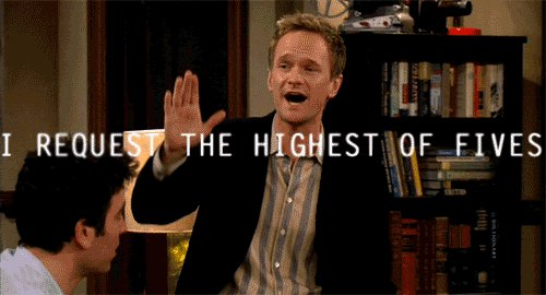 HIMYM's photo on #NationalHighFiveDay