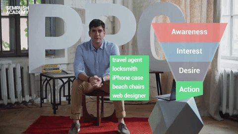 Remember the decision making funnel? 🤨Awareness  🤔Interest 🤩Desire 🤗Action  Now learn how to research actionable keywords along the funnel for your #ad campaigns!  Watch this lesson by @liquidjoel👉https://youtu.be/i3IJJfigUmQ  Take the full course for free▶️https://goo.gl/yzBWvE
