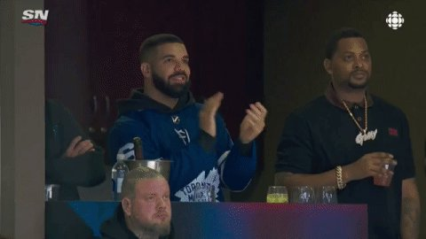 Drake in the 🏠 for Game 4. #StanleyCup