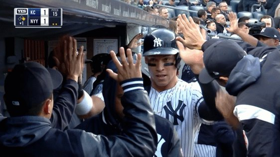Sevy hogging all the Tanaka high fives