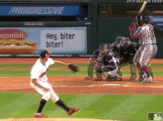 Trevor Bauer, 95mph Fastball and 81mph Slider, Overlay.