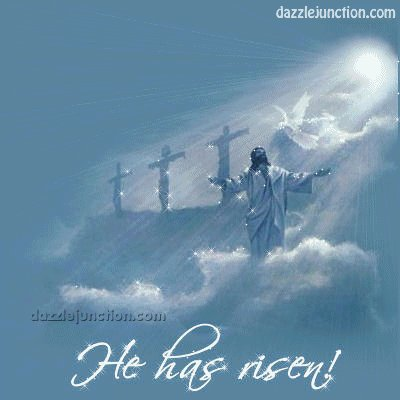 """#EasterSunday   """".... For He is not here,        He is Risen""""  We are in the world, But we are not OF the world. Hold fast to the Word, The Sword of Truth.  All that is wrong WILL be made right. Hope, joy, peace, love, And ultimately JUSTICE Will be His.  God Bless & Keep Us Amen"""