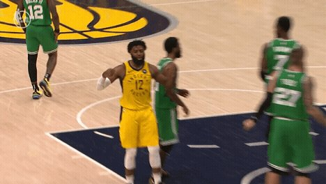 Both teams traded runs in the first half, but the good guys hold a 2-point lead at halftime. Highlights and a recap in Pacers.coms Halftime Rewind: on.nba.com/2GATn3W