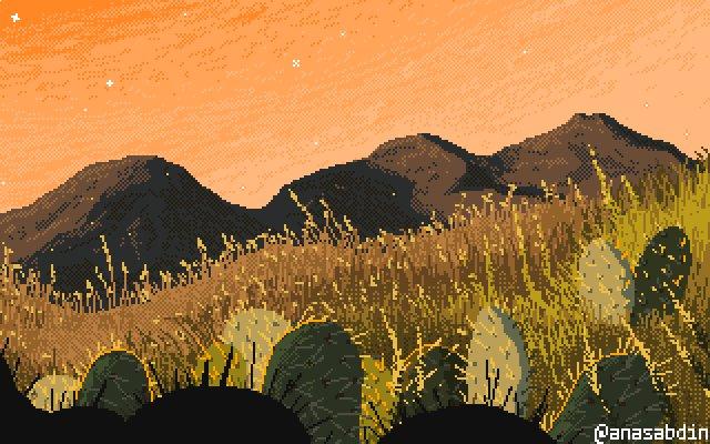 ✨🌵💛 Day myDay = new Day(2019, 04, 22); #pixelart #gamedev #aseprite @aseprite #ドット絵 #indiegame #pixel #dotpict #animation #art #pixel_dailies