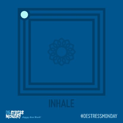 Need a moment to yourself this Monday? Breathe with the square: ▶️ Inhale for a count of 4 ⏸️ Hold for a count of 4 ▶️ Exhale for a count of 4 ⏸️ Hold for a count of 4 🔁 Repeat as needed 💚  #DeStressMonday #MondayMotivation