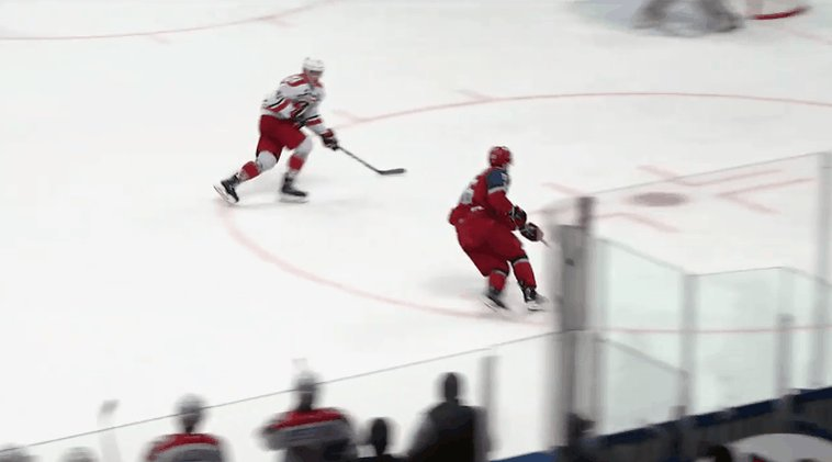 #Blackhawks prospect, Artur Kayumov, with an absolute snipe in the #MHL Finals 👀🎯 #HockeyTwitter