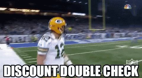 Your discount. Or else Aaron Rodgers will be displeased. 😒🔍📝 #ThingsToDoubleCheck