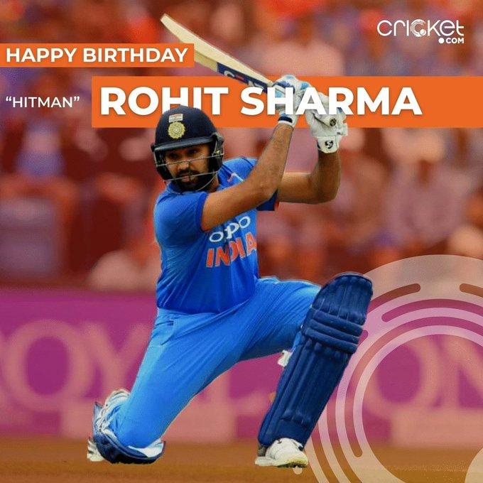 Happy Birthday Rohit Sharma.