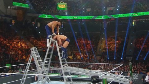 WHAT?!#MITB @AndradeCienWWE @FinnBalor