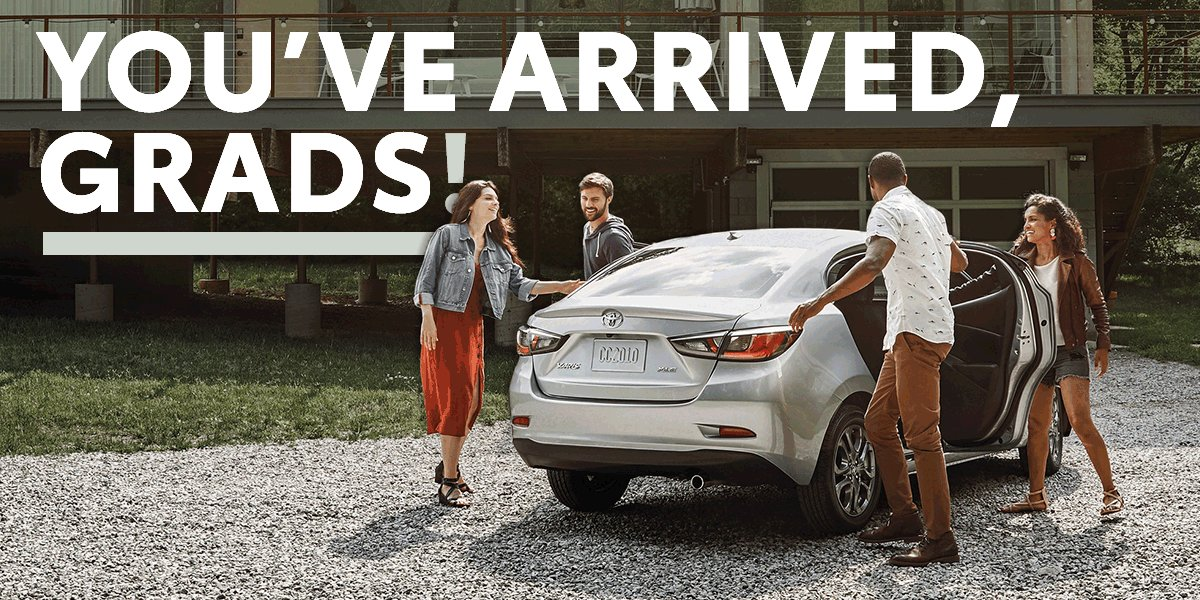 Image for the Tweet beginning: Congrats, grad! With @ToyotaFinancial's College