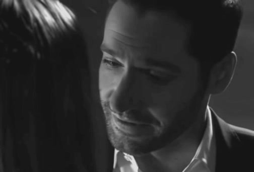 He thinks that he will never see her again and yet he didnt kiss her longer. He just wanted to feel her lips one last time. He is determined. He has matured. My little devil. 😭 #Lucifer #RenewLucifer