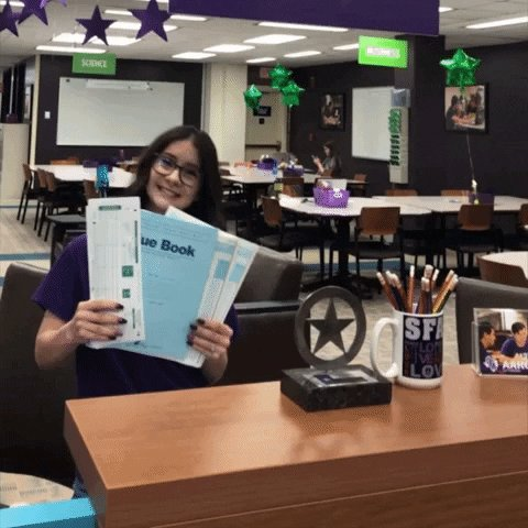 Do you need a Scantron or Blue Book? The @SFA_AARC has you covered! Stop by to grab what you need.  Don't delay! Today is the last day they will be available.