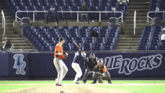 Lastnight, @mjmelendez7 launched this HR to CF for a @WilmBlueRocks walk off win! #AlwaysRoyal