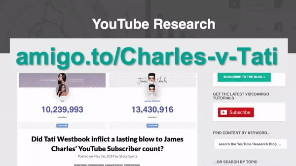 Did #Tati inflict a lasting blow to #JamesCharles' #YouTube Subscriber count? Read more: https://t.co/5E9NH6Cx4Z • Then watch #live as their sub counts change in this beauty vlogger vs. beauty vlogger drama.