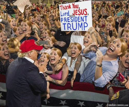 Meanwhile, back at a Trump rally close to the rock where Orange_VOl1321 lives under...