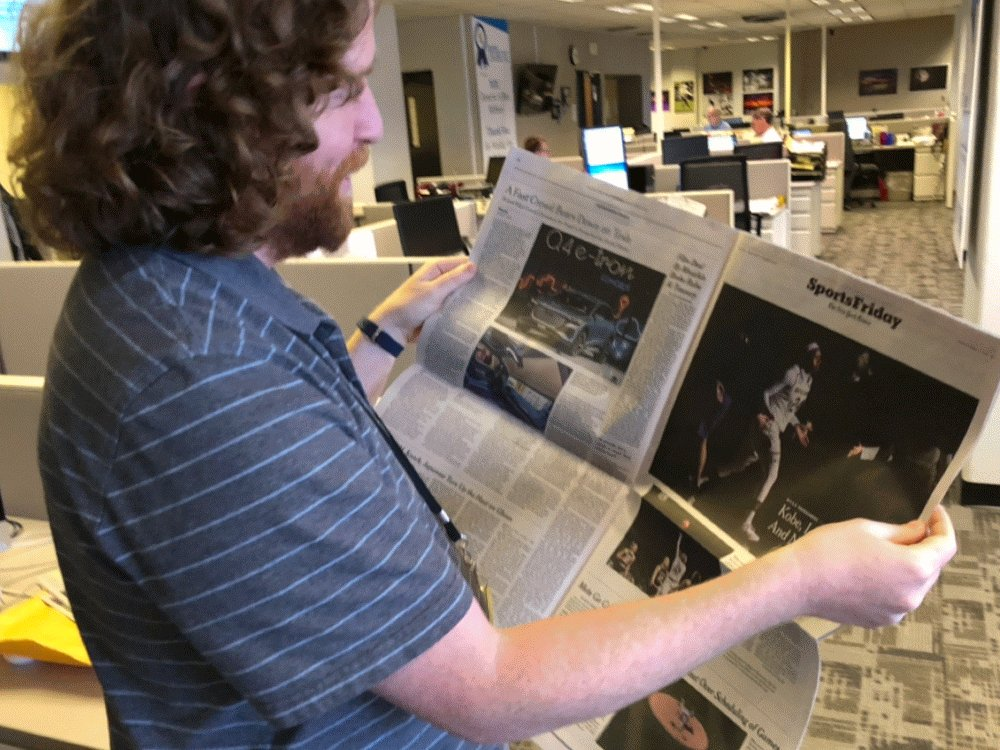TMW your coworker sees his incredible @Arike_O photo in the @nytimes #partylikeajournalist @TheRobFranklin – at South Bend Tribune