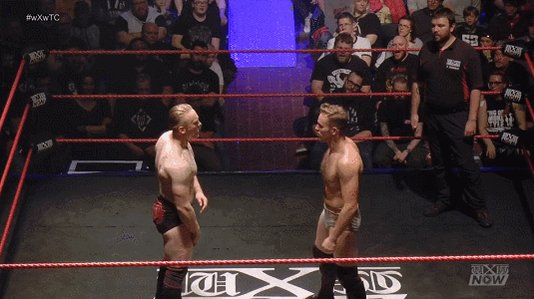 Awesome combination by @UNBESIEGBAR_ZAR. He faced @BobbyGunz28 & @mariusAL_Ani in a 3-way-dance at #wXwTC.The complete event is streaming on #wXwNOW - https://www.wxwnow.com/en/events/wxw-true-colors-2019…GIF by @MrLARIATO