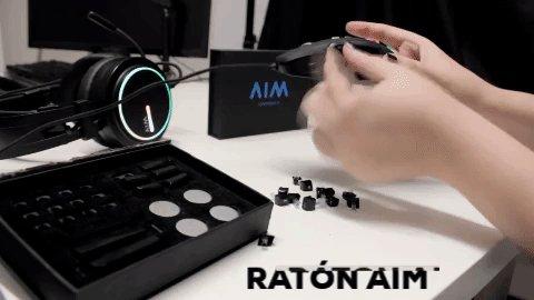 🌟 ¿Cuántos botones laterales le pondrás a tu ratón AIM? 🛒 A la venta en https://amzn.to/2LWwEE6 y http://aimgaming.eu/