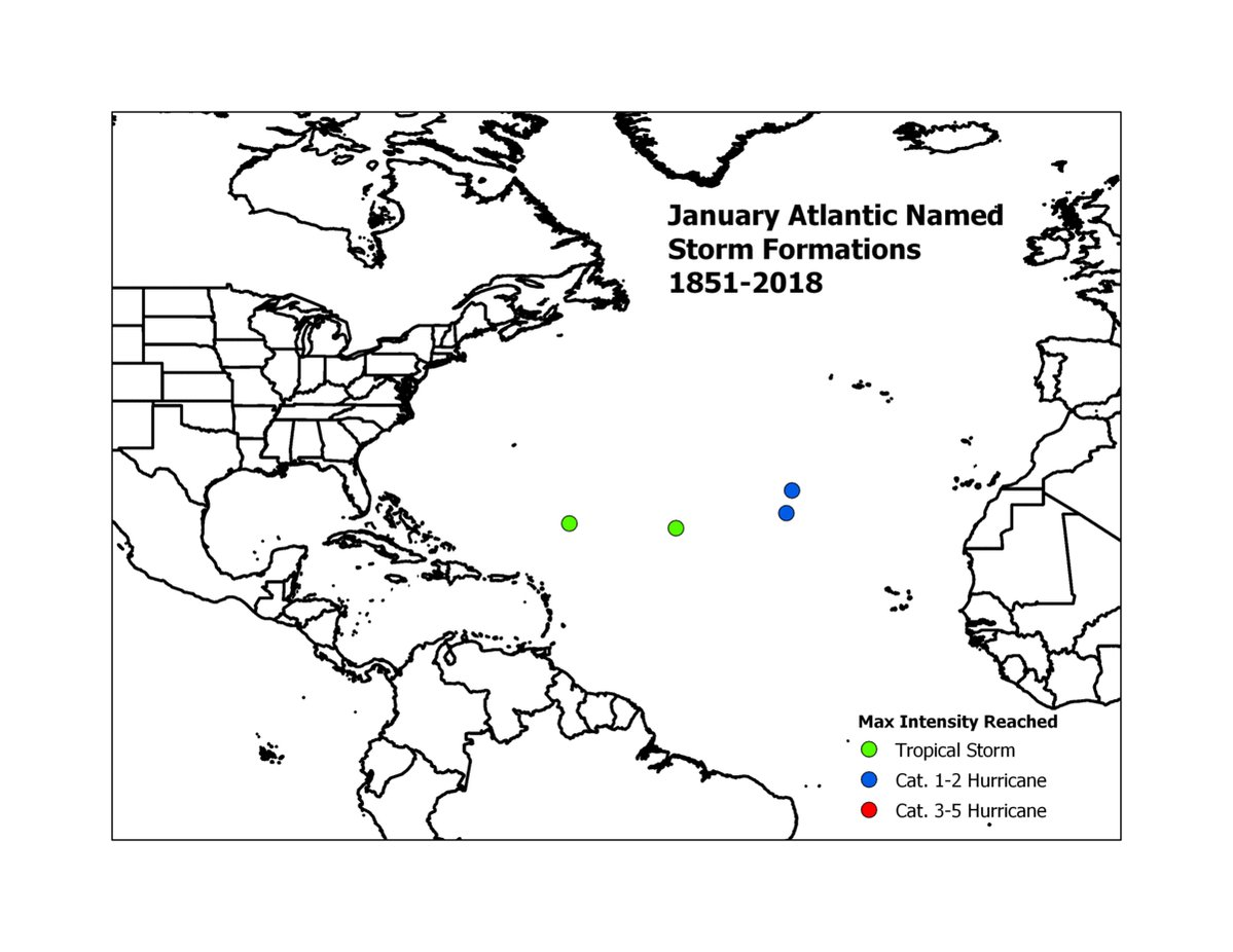 Animation showing Atlantic #hurricane formations by calendar month since 1851.  Nearly 80% of all Atlantic named storms historically have formed between August and October.