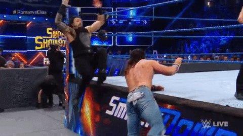 Yeah, he's not playing. #RomanvsElias #SDLive @WWERomanReigns @IAmEliasWWE