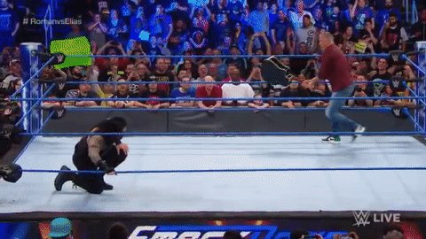 .@WWERomanReigns' SMASH HIT: The #SupermanPunch.Without further ado... #SDLive #RomanvsElias @ShaneMcMahon