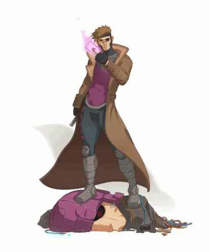 My #1stCartoonCrush was Gambit from the x-men I spent a lot of time trying to figure out how to obtain a cajan boyfriend to only discover none of them had red eyes and none called me Chere