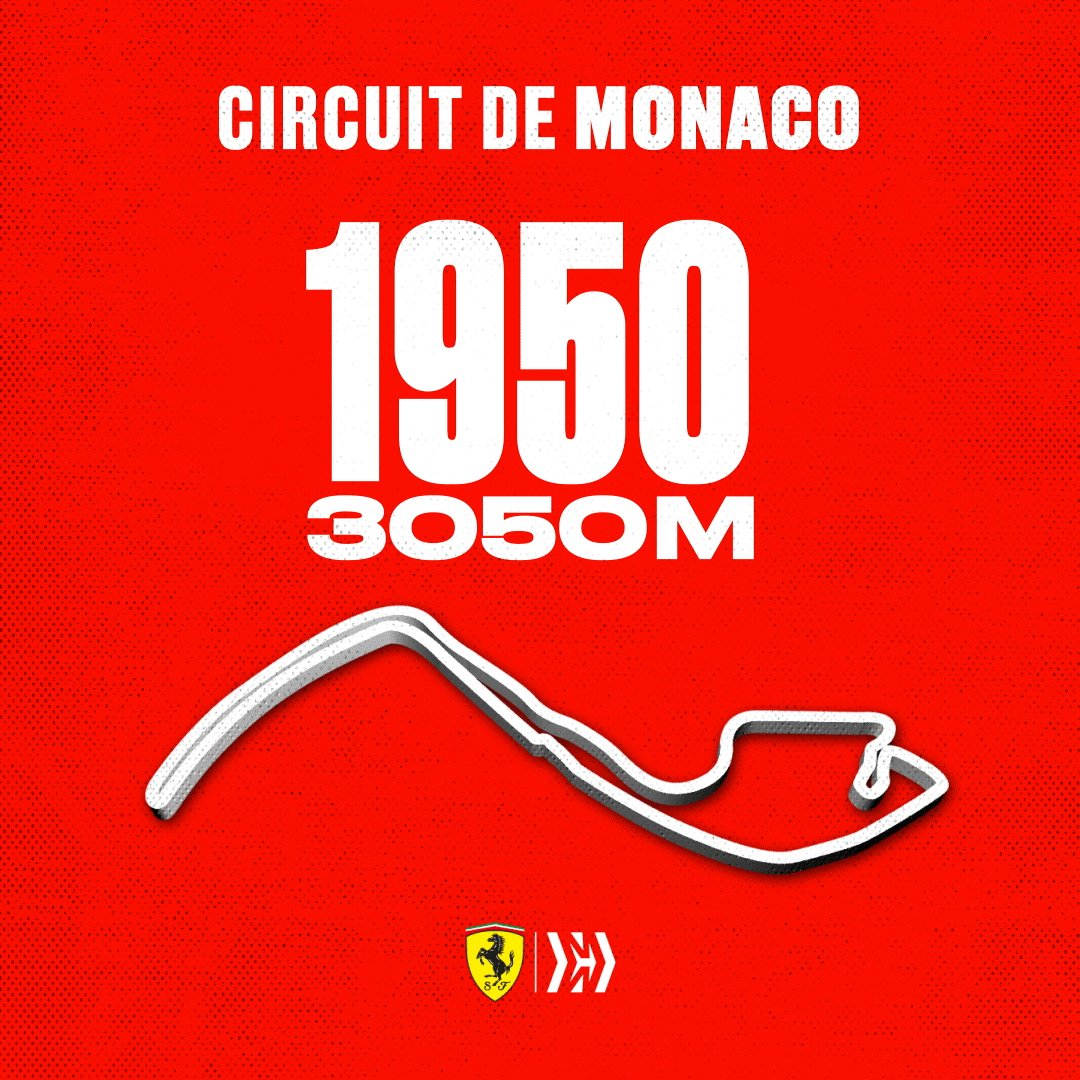 #DidYouKnow? | The #MonacoGP street circuit has technically had 11 layout and length changes since the first @F1 race in 1950 😱 #essereFerrari 🔴