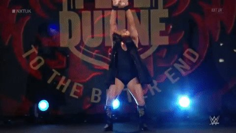 The time has arrived...@PeteDunneYxB wanted his rematch, and he's got it RIGHT NOW on #NXTUK!
