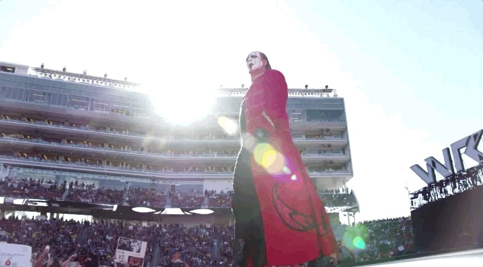 The UNTOLD story of @Sting's arrival in @WWE streams RIGHT NOW only on @WWENetwork! http://wwe.me/57D0E7  #WWEUntold