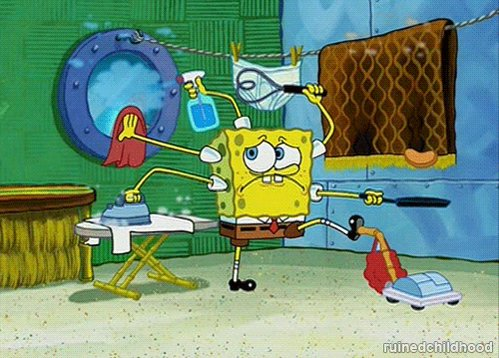 New trending GIF tagged spongebob squarepants, cleaning, stressed, busy, chores via Giphy https://t.co/Ls8yhvdLqJ https://t.co/E9KSM7yuLM via https://t.co/ClE2kkkuPt April 10, 2014 at 05:28AM https://t.co/MTEC1ejGiM