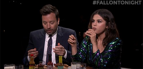 .@selenagomez and Jimmy go head-to-head eating spicy wings as #HotOnes host @seanseaevans grills them with questions https://youtu.be/N4kvtt2T_6Y #FallonTonight