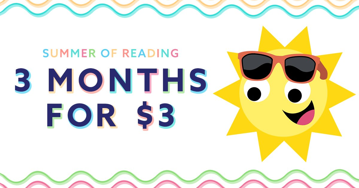 Exciting news! We will be extending our Summer Promotion until end of day on June 14th. Get Epic! for 3 months for $3 and read the summer away! 😎🍉🏖 http://www.getepic.com/summer-of-reading…