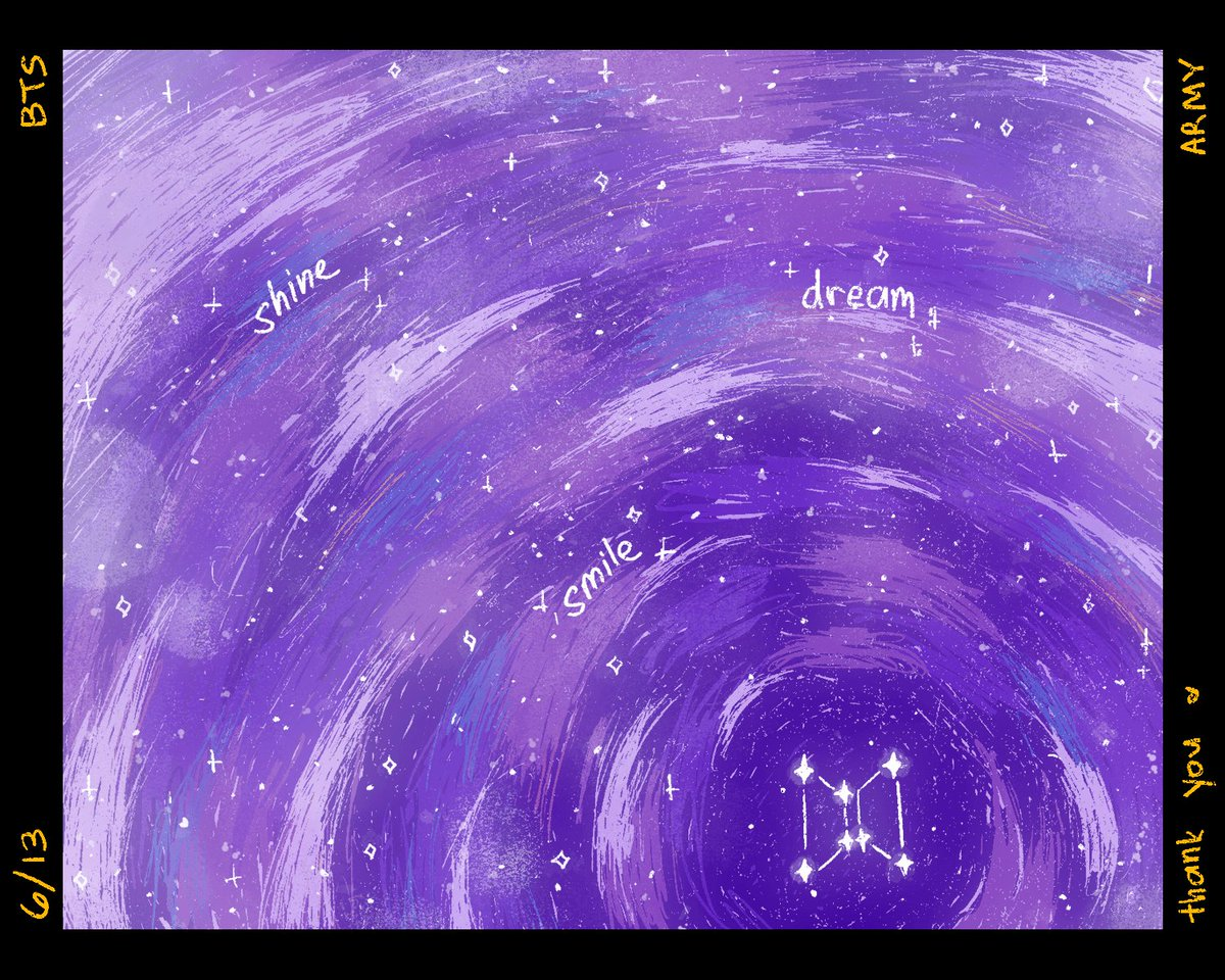 to the brightest stars in our galaxy, keep shining 💫✨ @BTS_twt 💜 #6YearsWithOurHomeBTS #BTSFESTA2019