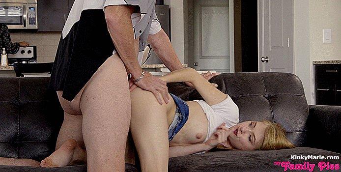Step dad rapes virgin step daughter hd