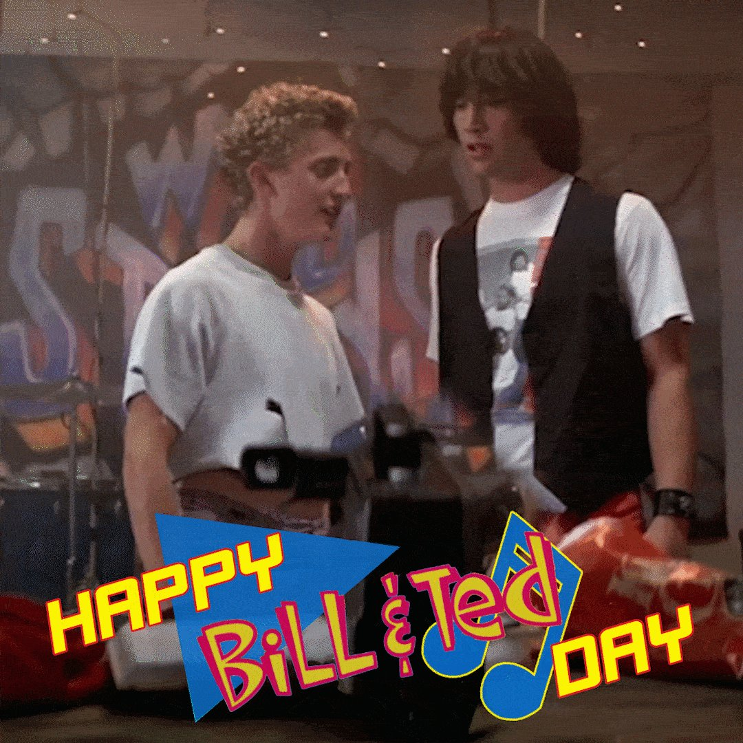 Bill & Ted Day has arrived. PARTY ON, DUDES! BillandTedDay.com #BillandTed #BillandTedDay