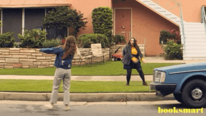 Booksmart: Super funny & the soundtrack is👌🏾👌🏾👌🏾👌🏾 Recommend.