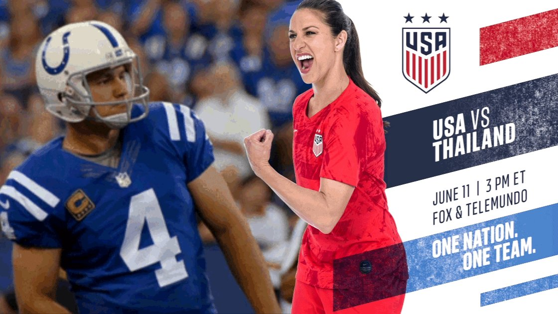 Almost time to do the thing. 💪 Good luck, @USWNT! #OneNationOneTeam
