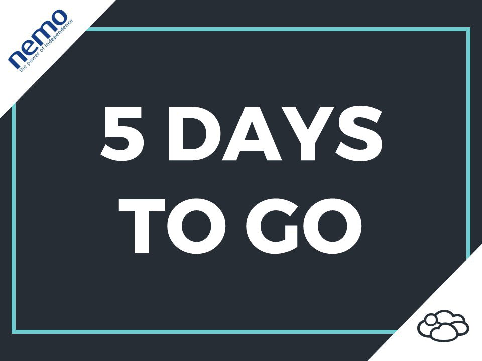 Image for the Tweet beginning: Only 5 days to go